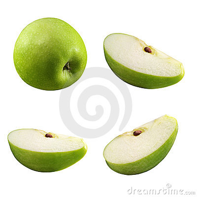Pieces of apple