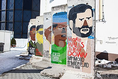 Berlin Wall - More Walls to Tear Down Editorial Photography