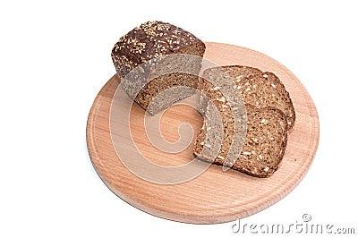 Pieces of bread.