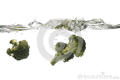 Broccoli splashing
