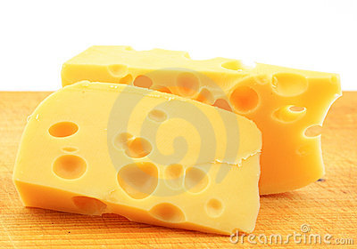 A pieces of cheese