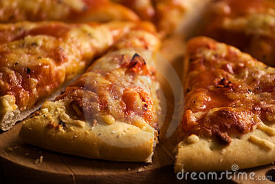 Pieces of cheese pizza