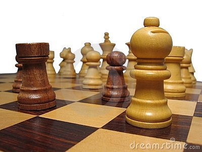 Pieces on chessboard