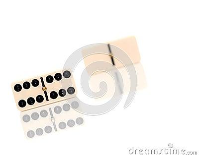 Pieces of dominoes