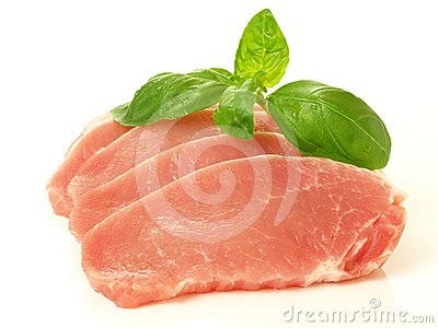 Pieces of meat, isolated