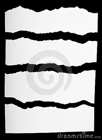Free Pieces Of Torn White Paper Stock Image - 15447041