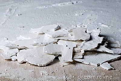 Pieces of old plaster