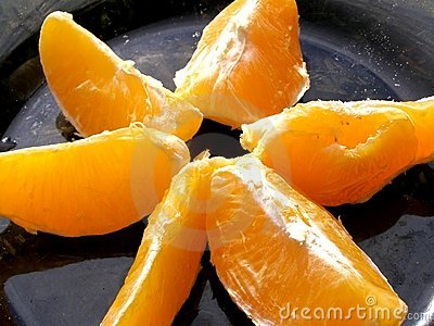 Pieces of oranges