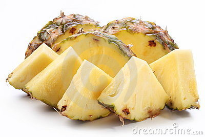 Pieces of pineapple.