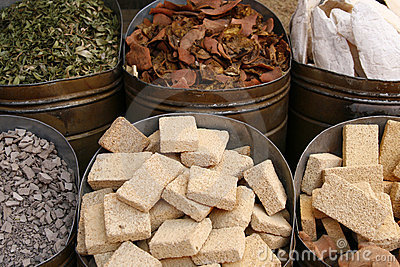 Pieces of pumice stone on the marketplace, Morocco