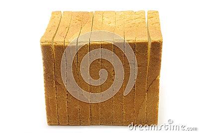Pieces of white bread