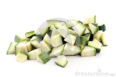 Pieces of zucchini