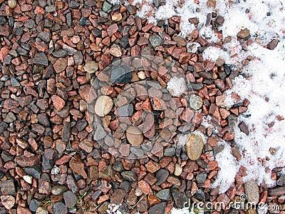 Piedra y nieve