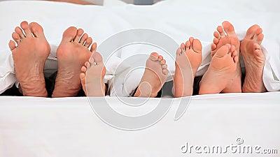 Pieds hors d'un déplacement de lit