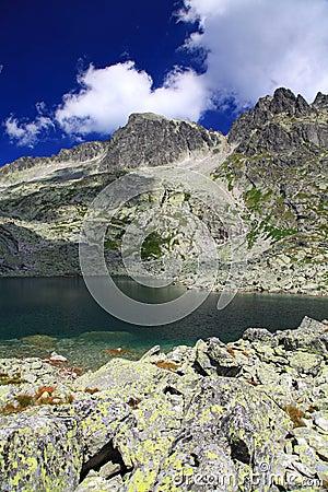 5 pieghe di Spisskych - tarns in alto Tatras, Slovacchia