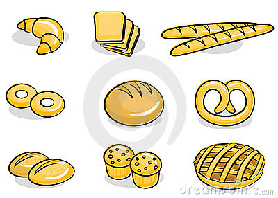 Piekarni ikony set