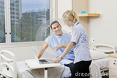 Pielęgniarka i pacjent