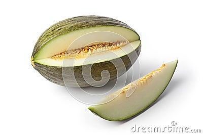 Piel de sapo melon and a slice