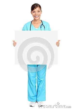 Pielęgniarka medyczny znak