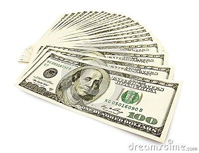 Pieniądze gotówki fan