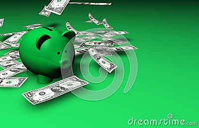 Pieniądze piggybank oszczędzania