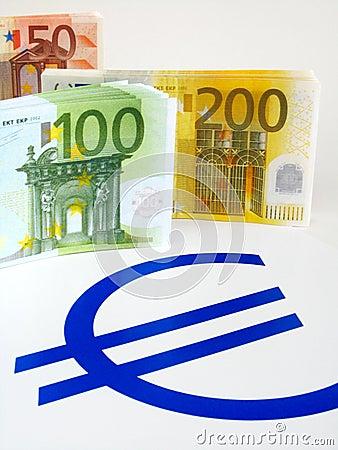 Pieniądze euro notatki