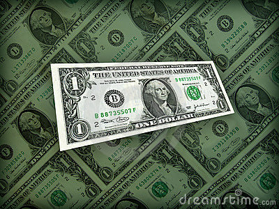 In pieno del dollaro americano dei soldi sul nero