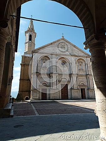 Pienza - Duomo facade.