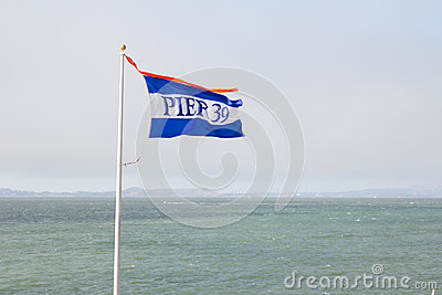 Pier 39 flag in San Francisco