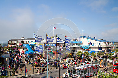 Pier 39, San Francisco Editorial Stock Image