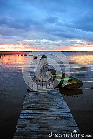 Free Pier At Sunset Stock Photo - 16791200