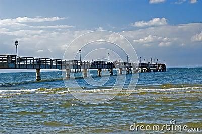 Pier Baltic sea