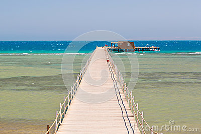 Pier on the beach of Red Sea