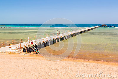 Pier on the beach of Red Sea in Hurghada