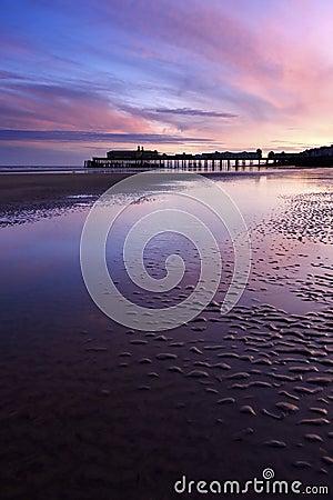 Pier in beautiful sunset