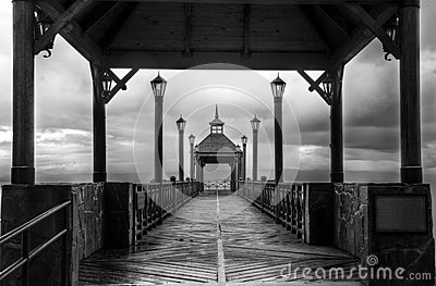 The Pier black and white