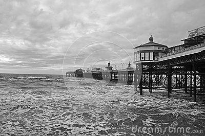 The pier in Blackpool UK