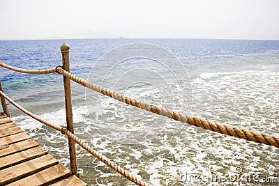 Pier on the coast