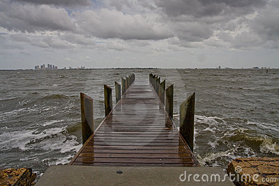 Pier on a Dark and Stormy Afternoon - Horizontal