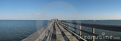 Pier on gulf of Mexico