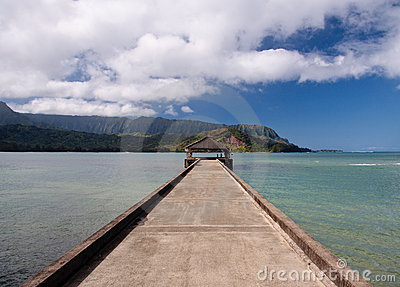 Pier at Hanalei Bay on Kauai