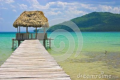 Pier Hut, Guatemala, Central America