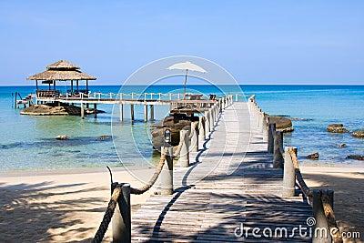Pier in island Koh Kood