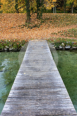 Pier on Lac d annecy
