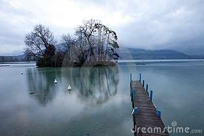 Pier at Lake Annecy, France