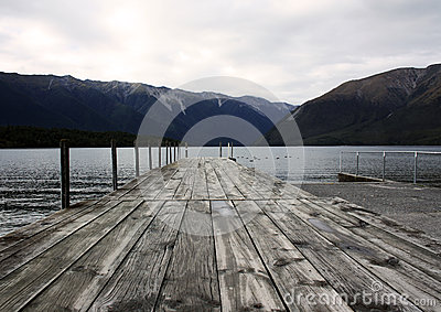 Pier of Lake Rotoiti