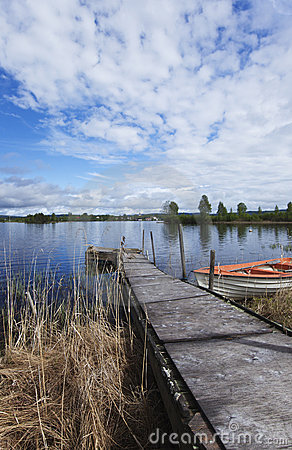 Pier leading to a lake