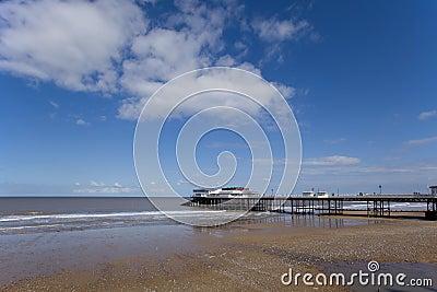 Pier at low tide
