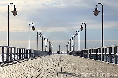 Pier in the morning.