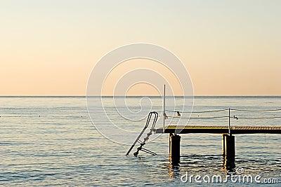 Pier on the ocean